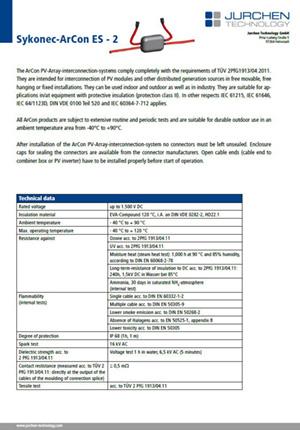 Datasheet ArCon ES2