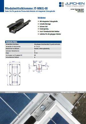 Modulklemme MKGIII für gerahmte PV-Module