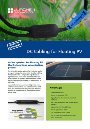 DC Cabling for Floating PV