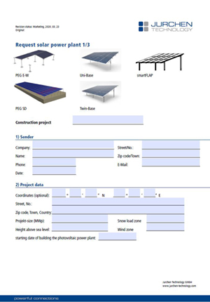 Form for statics - PV substructure